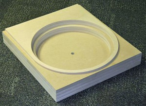 MDF turntable pit