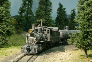 Our tank train rounds the corner after Dry Gulch Trestle on the approach to Ojito
